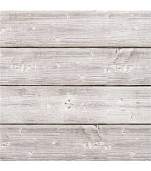 Jillibean Soup Mix The Media 6''x6'' Wooden Plank-Weathered White