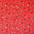 Patriotic Cotton Fabric -Stars on Red