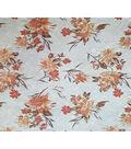 Boho Style Velvet Fabric 54\u0022-Burnout Peach Floral