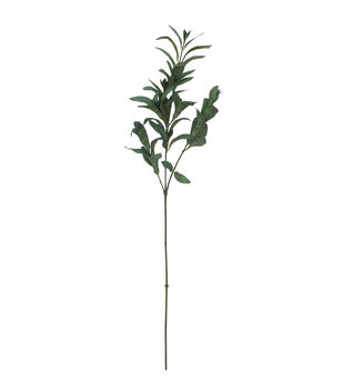 Blooming Autumn Olive Leaf Spray-Green