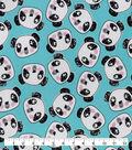 Snuggle Flannel Fabric-Pandas Faces Toosed
