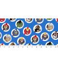 Marvel Comics Avengers Cotton Fabric -United Badge