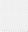Christmas Cotton Fabric-Silver Holiday Dots on White