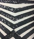 Casa Embellish Sequin Fabric 49\u0027\u0027-Glitz Black & Diamonds on Nude