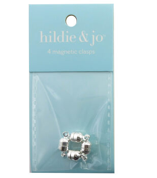 hildie & jo 4 Pack Silver Magnetic Clasps