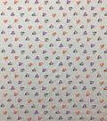 Doodles Juvenile Apparel Fabric-Glitter Hearts on Heather Gray