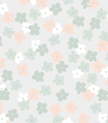 Nursery Bunny Flannel Fabric -Floral