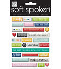 Soft Spoken Themed Embellishments-Today Pebbles