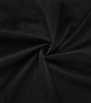 Velour Knit Fabric-Black
