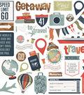 Boarding Pass Stickers 12\u0022X12\u0022-Elements