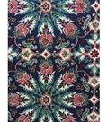 Knit Fabric 57\u0027\u0027-Navy Persian Medallion
