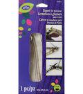 LoRan Knitwear Zip Fastener 10\u0022-Oatmeal