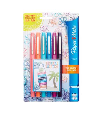 Paper Mate Flair Medium Felt Tip Pens 6/Pkg-Tropical Vacation