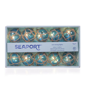 Seaport 10 count Net Covered Blue String Lights