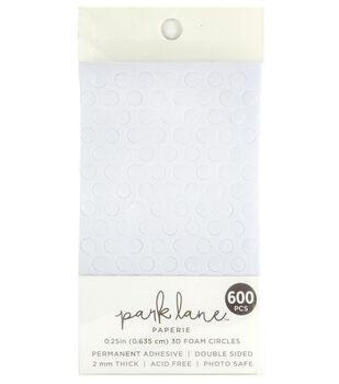 Park Lane Paperie 600 pk 2 mmx0.25'' Adhesive 3D Foam Circles