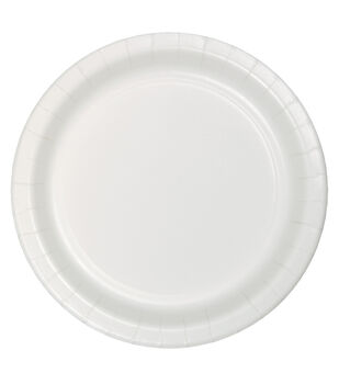 8ct Large Paper Plate-White