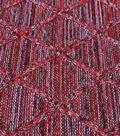 Knit Jacquard Fabric -Red Diamond