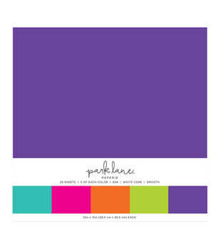 Park Lane 25 pk 12''x12'' Value Papers-Brights