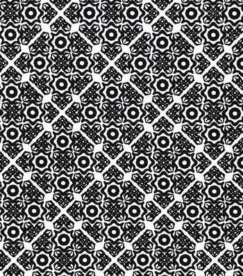 Sportswear Apparel Stretch Twill Fabric 57''-Black & White Tile