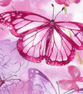 Keepsake Calico Cotton Fabric 43\u0027\u0027-Butterfly & Floral Watercolor