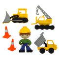 Jesse James Dress It Up Little Boy Button Embellishments-Work Zone