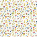 Home Decor 8x8 Fabric Swatch-Eaton Square Repeat Paintbox