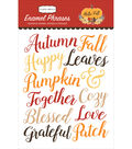 Hello Fall Adhesive Enamel Words & Phrases