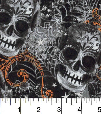 Bursting Skulls On Black