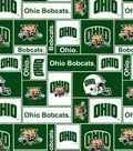 Ohio University Bobcats Fleece Fabric 60\u0022-Block