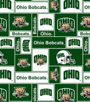 "Ohio University Bobcats Fleece Fabric 60""-Block, , hi-res"