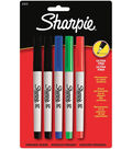 Sanford Sharpie Ultra Fine Point Color Assortment 5Pk-Red, Blue, Green, 2 Black