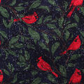 Anti-Pill Plush Fleece Fabric-Winter Cardinals
