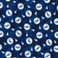 LA Dodgers Flannel Fabric-Tie Dye
