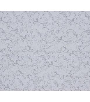 Keepsake Calico Cotton Fabric-White Scroll Texture