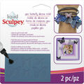 Sculpey Silicone Bakeable Mold with Squeegee-Geometric Butterflies