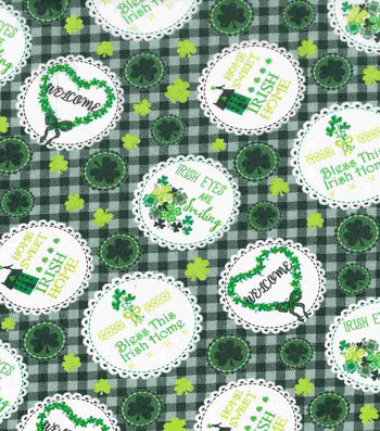 St. Patrick's Day Fabric 43''-Irish Home