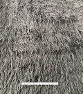 Faux Fur Fabric 58\u0022-Long Dark Gray Crinkle