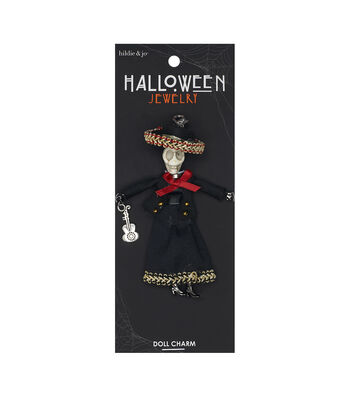 hildie & jo Halloween Doll Pendant-Day Of The Dead Sombrero Florencia