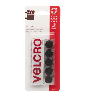 VELCRO Brand 0.63'' Sticky-Back Coins 15pcs