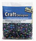 Big Value Pony Beads-Black Opaque