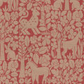 Waverly Upholstery Décor Fabric 9\u0022x9\u0022 Swatch-Forest Friends Persimmon