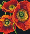 PaintWorks Paint by Number 11\u0027\u0027x11\u0027\u0027 Kit-Red Poppy Trio