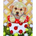 Diamond Dotz Diamond Embroidery Facet Art Kit 15\u0027\u0027X19.5\u0027\u0027-Pup In Pot