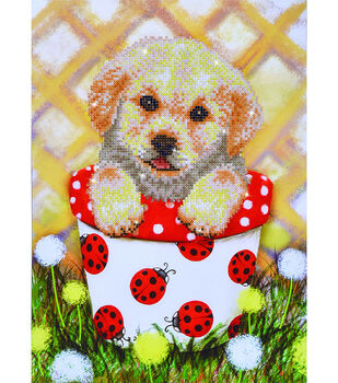 Diamond Dotz Diamond Embroidery Facet Art Kit 15''X19.5''-Pup In Pot
