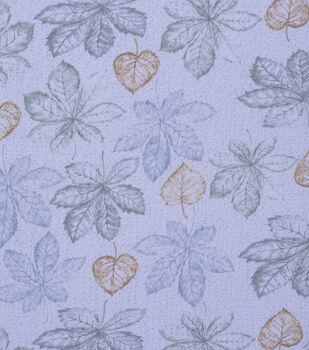 Harvest Cotton Fabric-Light Green Blue Leaves