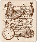 Inkadinkado Rubber Stamp-Time Flies Collage