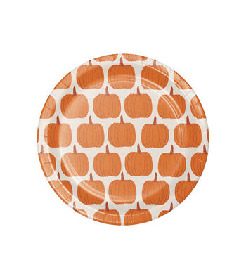 Simply Autumn 8 pk 6'' Lunch Plates-Pumpkins