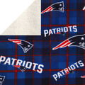 New England Patriots Sherpa & Fleece Fabric-Plaid