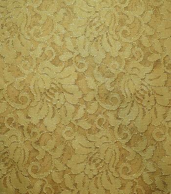 Casa Stretch Foiled Lace Ochre