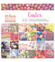 "American Crafts Single-Sided Paper Pad 12""X12"" 48/Pkg-Easter, , hi-res"